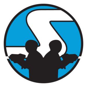 Logo rond bleu LASER GAME RUEIL 92